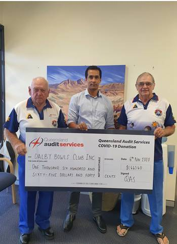 QAS Dalby Bowls Club with Bimal Chand
